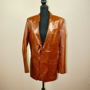Bertini Vintage Brown Leather Coat Jacket